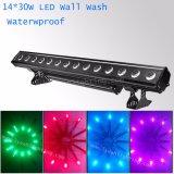 14HP 30W RGB LED de exterior 3 em 1 Luz de lavagem na parede