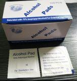 Estériles Non-Woven elástico 70% de alcohol isopropílico Pad 3*6 cm/3*6.5cm