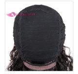 Pelucas rizadas largas medias del frente del cordón del pelo humano