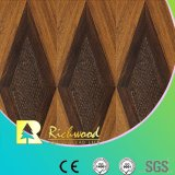 пол Laminbate воды грецкого ореха текстуры Woodgrain 12.3mm V-Grooved упорный