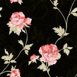 2016 Nouveau profonde en vinyle PVC gaufré de gros de papier peint à motifs floraux