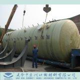 汚水処理のためのFRPの水平タンク