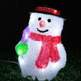 Indicatori luminosi solari esterni di motivo del pupazzo di neve della decorazione LED di festa di natale