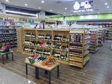 Полка металла супермаркета деревянная