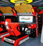 Машина игры участвуя в гонке автомобиля аркады имитатора гонщика 2 скорости