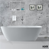 Bañera de piedra artificial blanca del diseño moderno de Kkr
