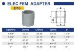 O PVC-U ASTM Sch40 de transferência para a instalação eléctrica do adaptador fêmea D16
