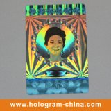 Plateada seguridad anti-falsificación de etiquetas láser 3D holograma