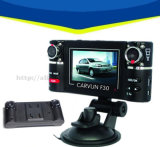 Grande angular 180 graus HD 1080P dupla lente carro DVR para carro viajando Black Box Camera