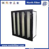 Фильтр стеклянного волокна компакта ви-образност F7 средств