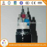 Aislamiento XLPE libre de halógenos de bajo nivel de humo simétrica a bordo del cable de telecomunicaciones