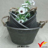 Handmade Bucket Style Metal Vintage Faucet Planter