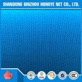 Rede azul plástica azul da construção da rede de segurança do andaime do edifício da construção