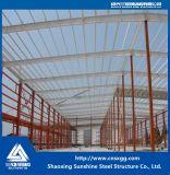 Taller barato industrial de la estructura de acero con el material de construcción soldado de la viga