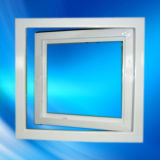 Preiswertes Weiß PVC-Flügelfenster-Fenster