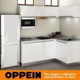 Oppein Branco pequeno MDF Projeto Kitchen Cabinet (OP15-L01)