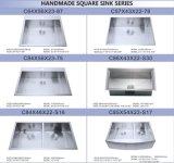Небольшой радиус 304 из нержавеющей стали единой чаши ручной работы блока радиатора процессора на кухне с атласной (HA01)