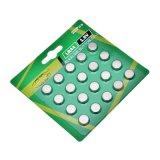 0% Hg цинк марганцевые батареи таблеточного LR44