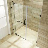 Porta simples do chuveiro do projeto de Frameless para o quarto de chuveiro