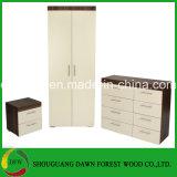 بيضاء غرفة نوم مجموعة جانب سرير خزانة, 8 ساحب قفص صدر 2 باب خزانة ثوب, غرفة نوم مجموعة