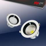 Luz LED de aluminio COB luz tenue