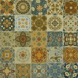 600*600mm 잉크 제트 꽃 패턴을%s 가진 장식적인 시골풍 사기그릇 지면 도와