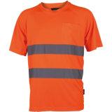 T-shirt r3fléchissant de vêtements de travail élevés bon marché de visibilité