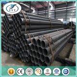 Tubo de acero hueco rectangular soldado negro de carbón de la sección de ERW Sqaure