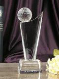 Premio poco costoso personalizzato del trofeo di golf con materiale di cristallo