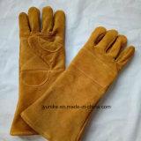Класс Ab перчатки сварки Gauntlet долго коровы Split кожаные перчатки