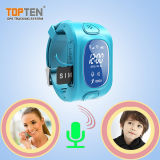 Kids Wt50-Ez를 위한 새로운 Design 2015년 Wrist Smart Watch GPS Tracking Device