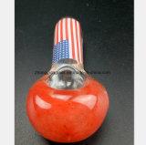 Reprise rouge de pipe de tabac de filtre de pipe en verre de fumée
