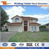Chalet prefabricado de la casa de la estructura de acero de la luz del material de construcción de la alta calidad