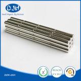 D6*25 mm seltene Massen-gesinterter permanenter Zylinder-Form NdFeB Magnet