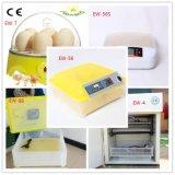 56個の鶏の卵を工夫している普及した小型自動安い家禽は定温器機械に卵を投げつける