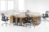 Stazione di lavoro rotonda del divisorio dell'ufficio della mobilia pakistana poco costosa moderna (SZ-WS326)