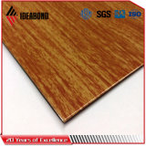 Ideabond алюминиевых композитных панелей из дерева с нетерпением для украшения