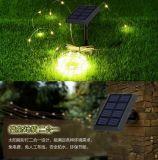 Lámpara ligera impermeable de hadas accionada solar flexible de la cadena del alambre de cobre