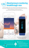 Pulsera elegante de múltiples funciones IP67 de la venda de la pulsera del deporte del monitor de la presión arterial IP68 y del monitor del ritmo cardíaco impermeable