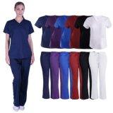 Les vêtements de travail d'infirmières de vente en gros frottent des uniformes de soins