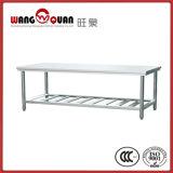 ステンレス鋼ベースが付いている木製の上のワークテーブル
