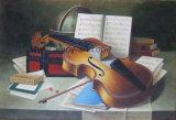 Guitarra artesanais pintura a óleo para decoração
