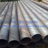 Schermo della scanalatura del ponticello della scanalatura del acciaio al carbonio 219mm/168mm 1.0mm per il pozzo geotermico