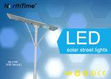 100W 운동 측정기를 가진 옥외 통합 LED 태양 가로등