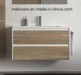 Module de salle de bains de type de modèle moderne avec la vanité en céramique de salle de bains de bassin