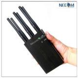 Últimas CDMA GSM 2G 3G 4G WiFi Jammer teléfono celular, GPS, Lojack Jammer/Blocker de hasta 50 metros de las bandas de 6 Asa Jammer