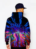 Pittura lunga Hoodies del pullover dello spruzzo degli uomini