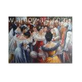 Riproduzione della pittura a olio di Renoir su tela di canapa
