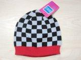 겨울 동안 아이의 형식 다채로운 검사에 의하여 뜨개질을 하는 모자 & 스카프