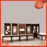 De houten Showcase van de Vertoning van de Juwelen van de Vertoning van Juwelen Tegen